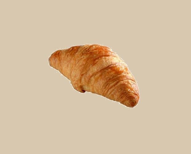 Croissant Recto Mantequilla. 70 gramos, 80 unidades por caja