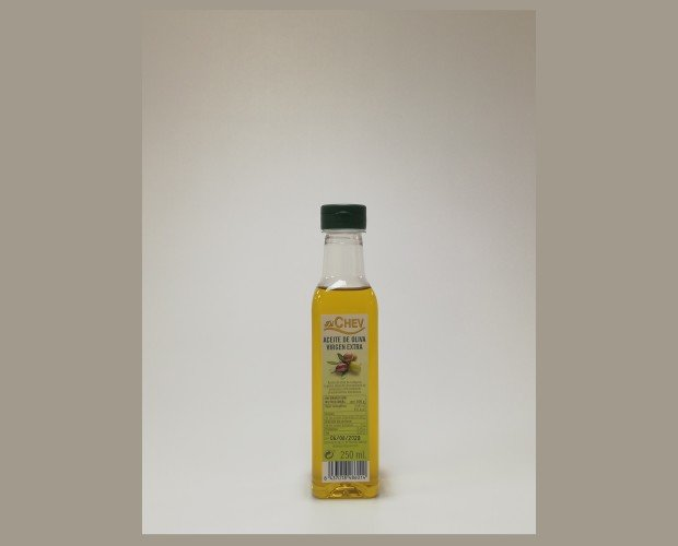 Aceite virgen extra. Aceite de oliva virgen extra 250 ml botella (PET)  Tambien hay botellas de color verde .