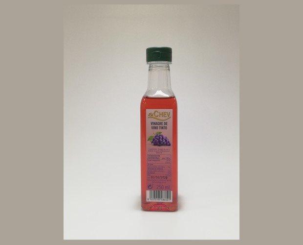 Vinagre. Vinagre de Vino. Vinagre de vino tinto 250 ml botella (PET) Pack de 12 botellas
