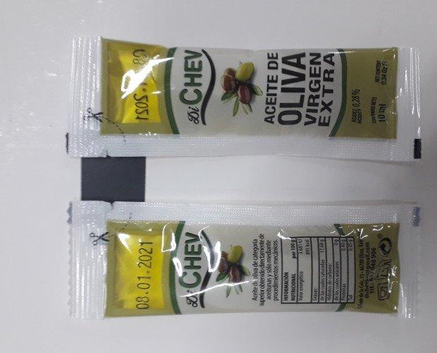 Aceite. Aceite de Oliva en Monodosis. Peso de 10 ml
