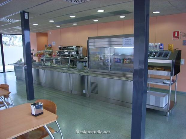 Cafetería hospital. Cocinas industriales