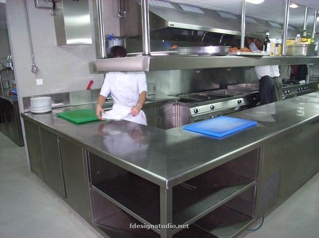Cocina restaurante. Diseño de cocinas