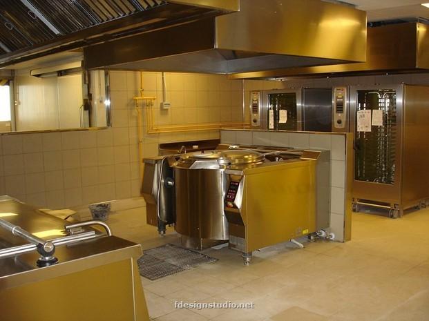 Proyecto cocina central. Cocina central en retaurante