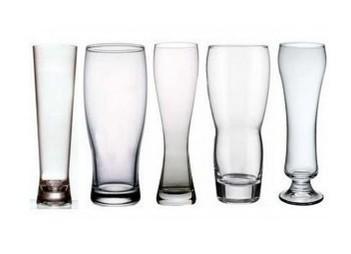 Vasos de cerveza. Varios diseños y modelos