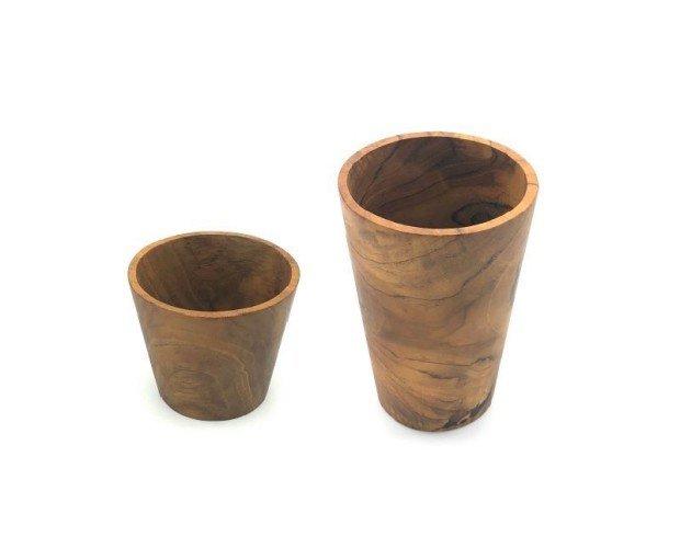 Vaso De Madera . Fabricado en Teca