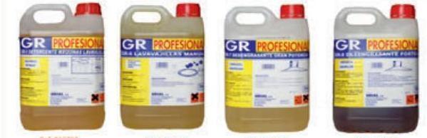 Productos de Limpieza. Detergentes y desengrasantes para Hostelería