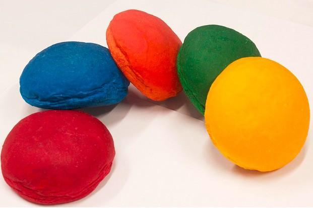 Panes de colores. Panes de colores especiales 75 gramos