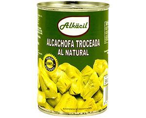 Alcachofa troceada. En latas
