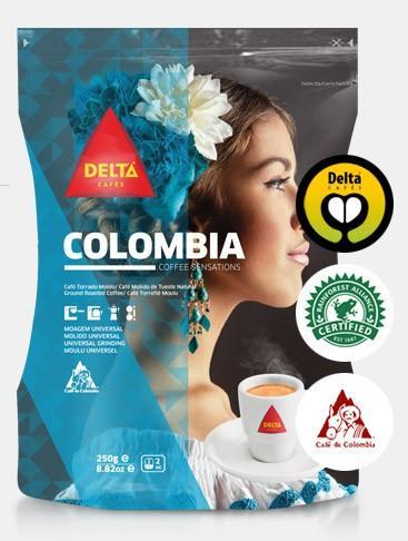 Café Colombia. Arábigas de Colombia en grano, envases 1 kg
