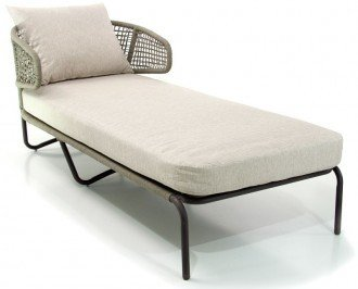 Sillón sofá lounge para exterior. Se fabrica con elementos de alta calidad empezando por su robusta estructura de metal barnizado y tratado para el...