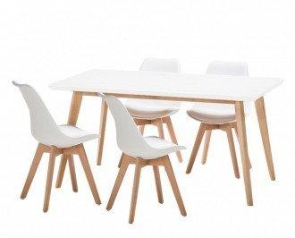Conjunto 4 sillas más mesa. Un completo conjunto de CALIDAD PREMIUM compuesto de 4 sillas y una amplia mesa para decorar tu hogar con un estilo innovador.
