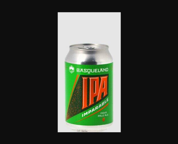 Basqueland Imparable. West Coast IPA, formato lata. 6,8%. 33 cl. Pack de 24 unidades.