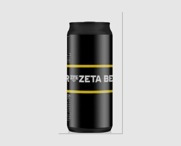 Zeta Hell Lata. Bavarian Helles de estilo alemán , 5,5%. 44 cl. Artesana de elaboración en España