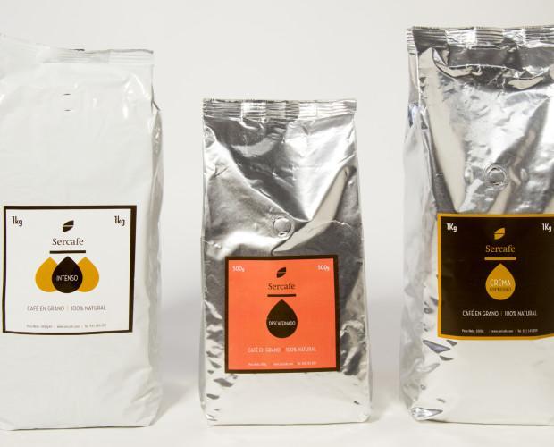 Café en grano. Selección de los mejres granos de café arábica.