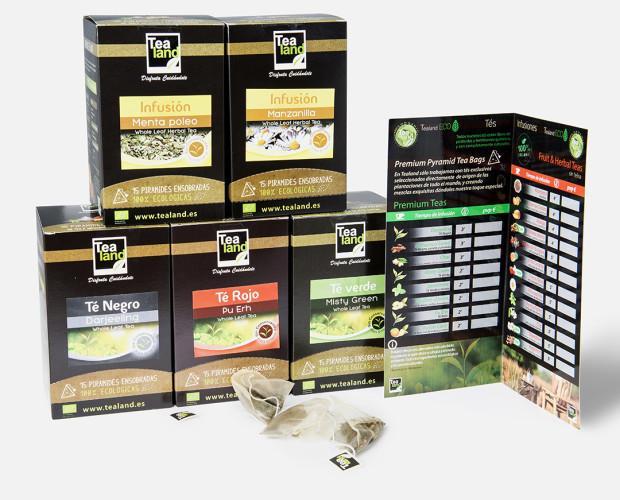 Tés ecológicos. Selección de tés en piramide ecológicos 100%