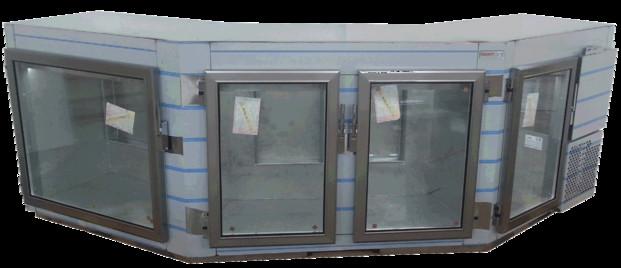 Mesas Frías.Mesa refrigerada especial de doble angulo y Led