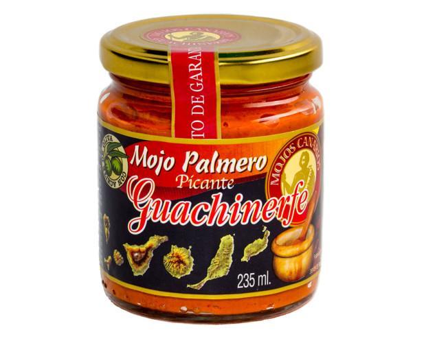 Mojo Palmero Picante. Elaborado con pimientas deshidratadas.