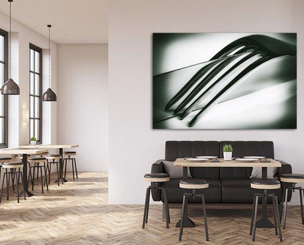 Cuadro restaurante. En gran formato de la serie en blanco y negro