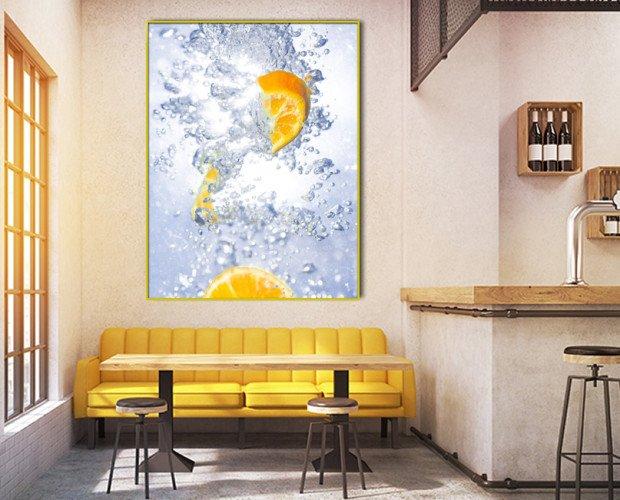 Cuadro Naranja fresh. Para decorar bares, cocktelerías y restaurantes