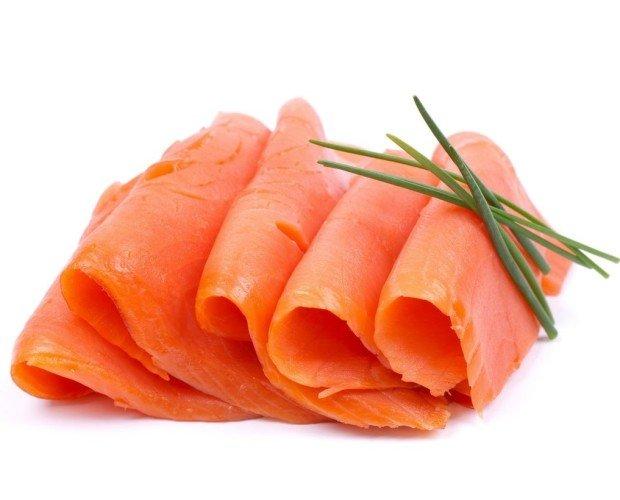 Ahumados.Salmón sueco ahumado y marinado.