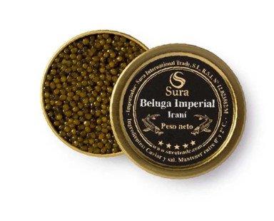 Caviar.Obtenido del esturión beluga