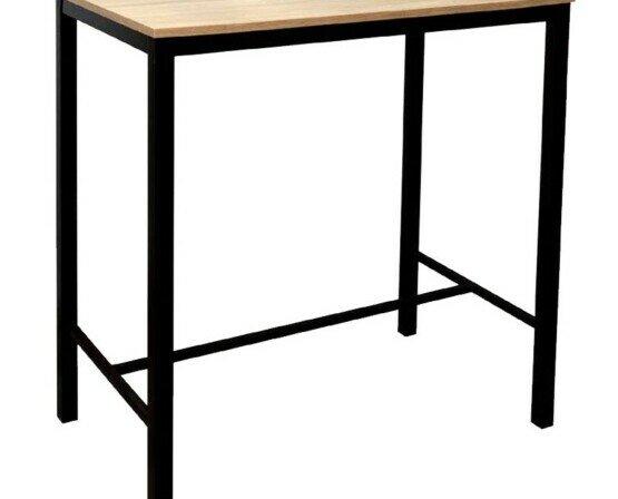 Mesas altas. Mesa alta rectangular con tablero de melamina de 20mm