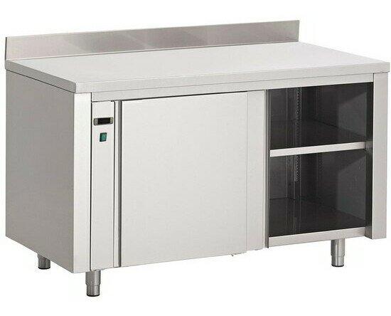 Mesa caliente Gastro-M . Fabricada en acero inoxidable. Excelente calidad