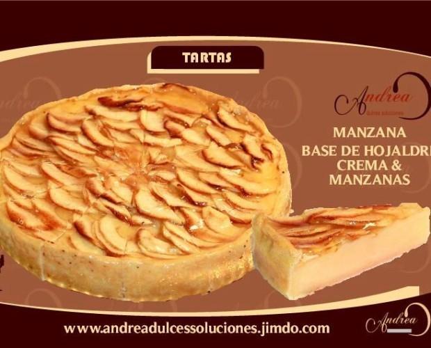 Tarta de manzana. Tarta de manzana con crema de almendras.