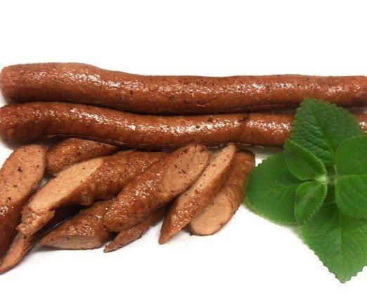 Salchichas vegetal. Vegetales salchichas