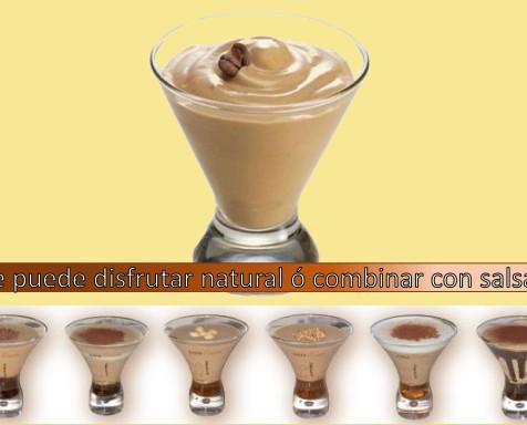 Café helado cremoso. El sabor del expresso en una suave crema fría