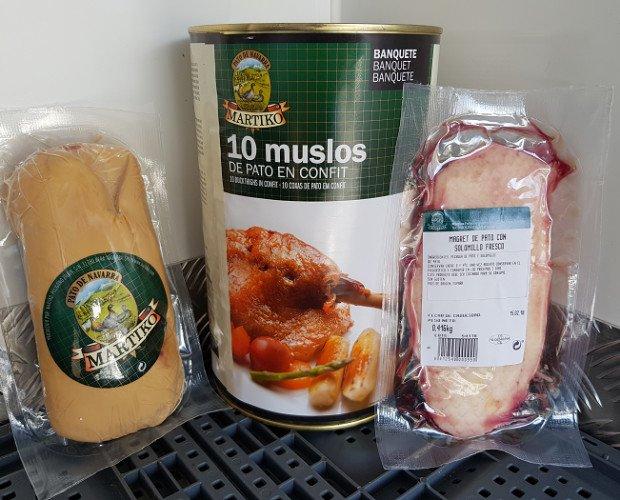 Carne de Aves. Pato. Variedad de productos