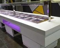 Buffets diseño. Diseñamos cualquier tipo de buffet fríos, calientes, neutros, show cooking, etc. Estándar y a medida.