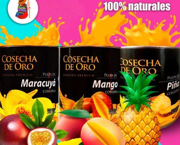 Pulpas de frutas naturales. Pulpas 100% narurales de la marca Cosecha de Oro