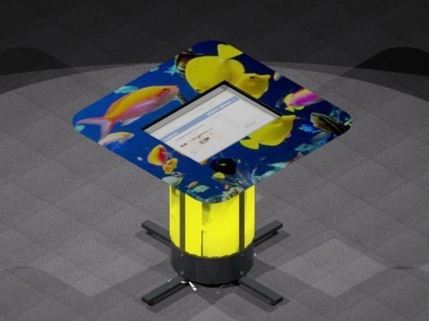 MESA B900-H800-1M22 (peces). Mesas personalizadas para hostelería