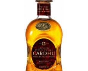 Whisky Cardhu. Whisky de malta