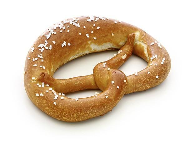 Brezel. Lazo de pan especial muy típico en Alemania