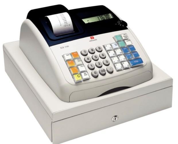 Caja registradora. Con impresora