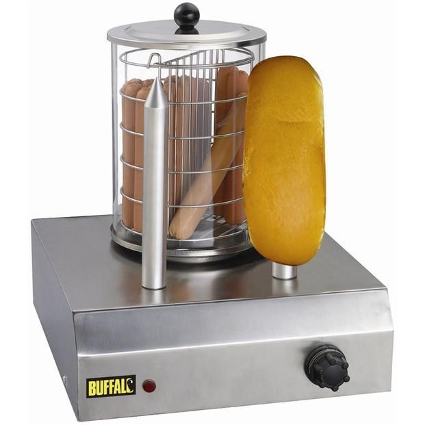 Calentador de perritos. Calentador de perritos calientes Buffalo Código CD-0266 Dos calienta-panecillos