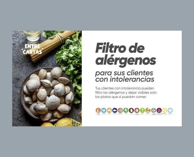 Filtro de Alérgenos. Filtra los productos para personas con alergias alimenticias