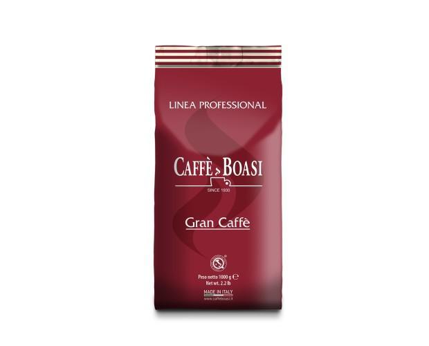 Café italiano. Café ecológico en grano Boasi Gran Caffé, línea profesional