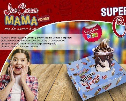 Helado.Delicioso y sorprendente Ice Cream Sorpresa.