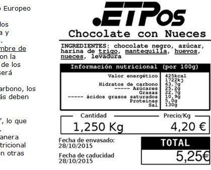 Etiquetaje-Nutricional. Etiquetado con valores nutricionales.