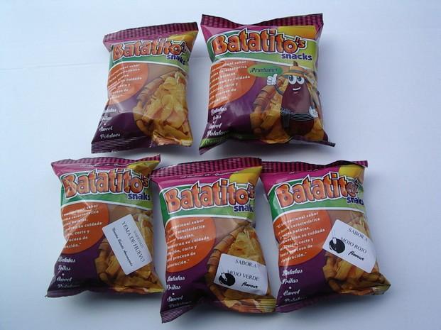 Batatito´s Snacks. Batata o boniato frito en aceite vegetal