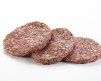 Hamburguesa de 120 g. Hamburguesa de carne de cerdo