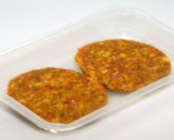 Hamburguesa Moruna. Condimentada con especias típicas que le dan un rico sabor