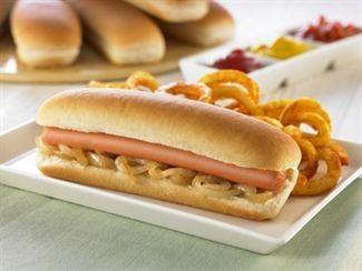 Hot Dog Corte Lateral. Pan Hot Dog Precortado Congelado