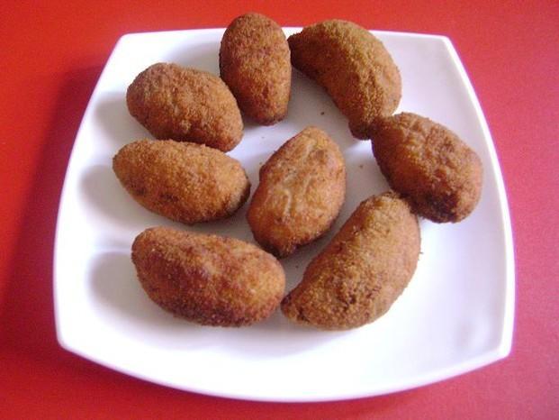 Croquetas. Croquetas de cocido, Iberico, economicas, minis