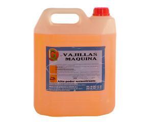 Lavavajillas. Detergente liquido para equipos de lavado automáticos de vajilla, cristalería y cubertería