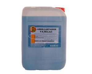 Abrillantador vajillas. Producto para maquinas lavavajillas, antiespumante con acción detergente, secado y abrillantado en cristalería, vajilla, menaje, etc.