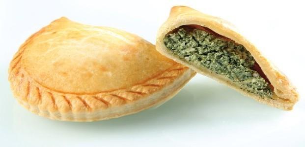 Empanada espinaca. con ricotta y almendras